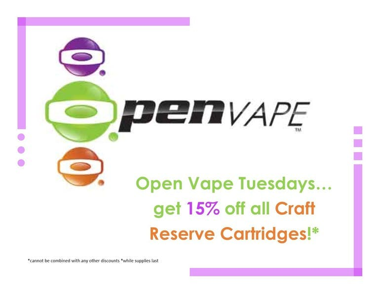 Defyne Premium Cannabis Open Vape Tuesday's