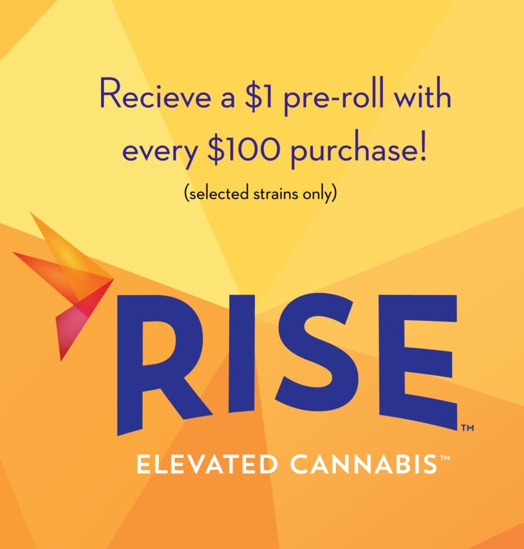 RISE Bethesda $1 pre-roll with $100 purchase