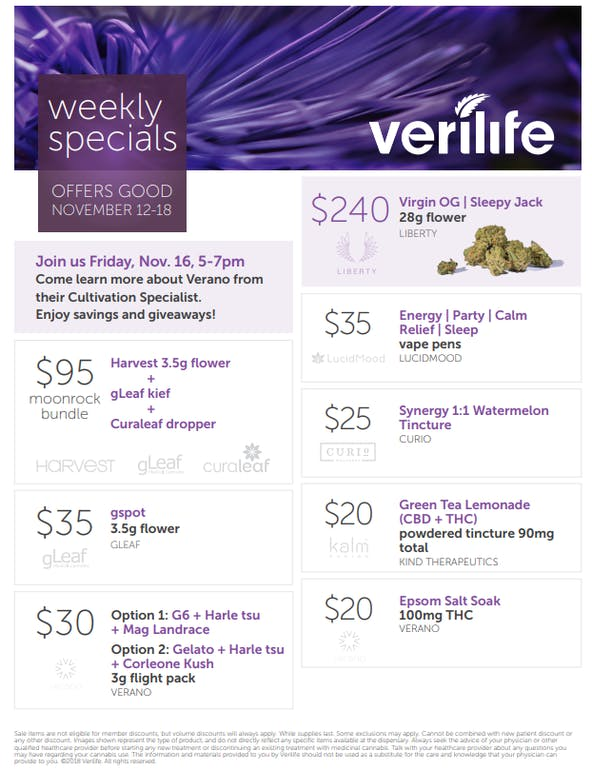 Verilife Rockville Verilife Special: 11/12-11/18