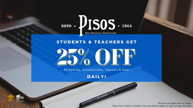 Pisos - Flamingo & S Maryland 25% OFF Student & Teacher Daily!