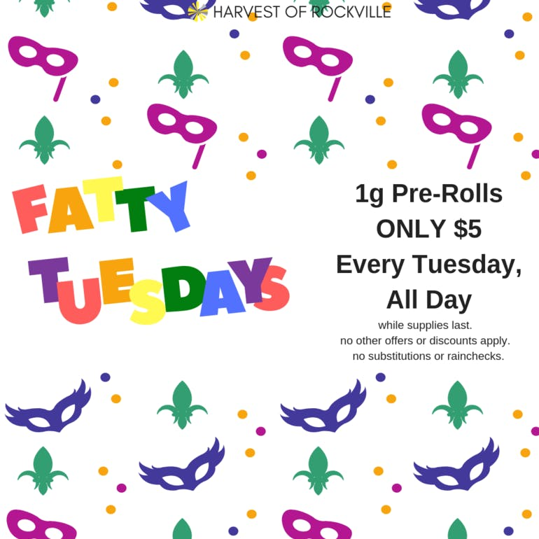 Harvest of Rockville Introducing Fatty Tuesdays!!