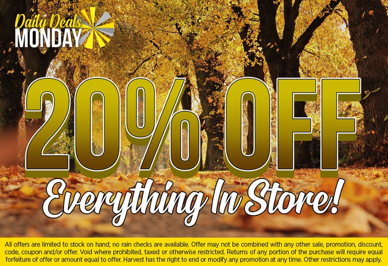 Harvest of Rockville 20% Off NON-SALE Items