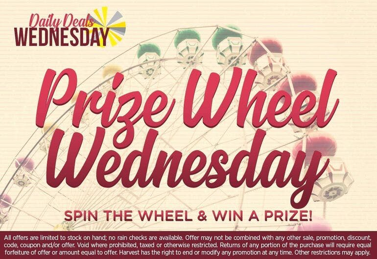 Harvest of Rockville Prize Wheel Wednesday!