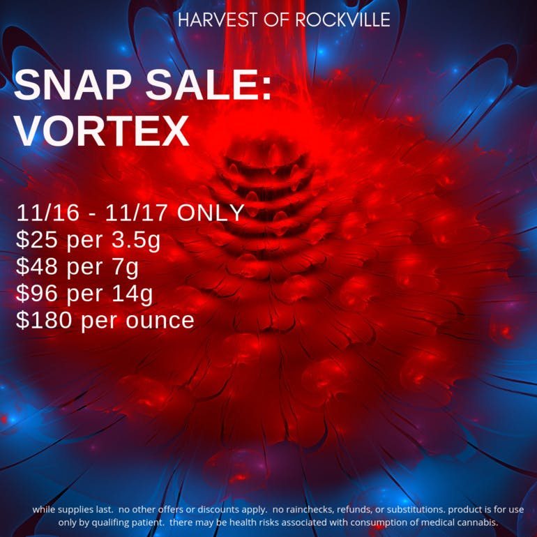 Harvest of Rockville Vortex Snap Sale!