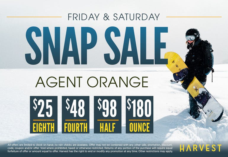 Harvest of Rockville Agent Orange Snap Sale!