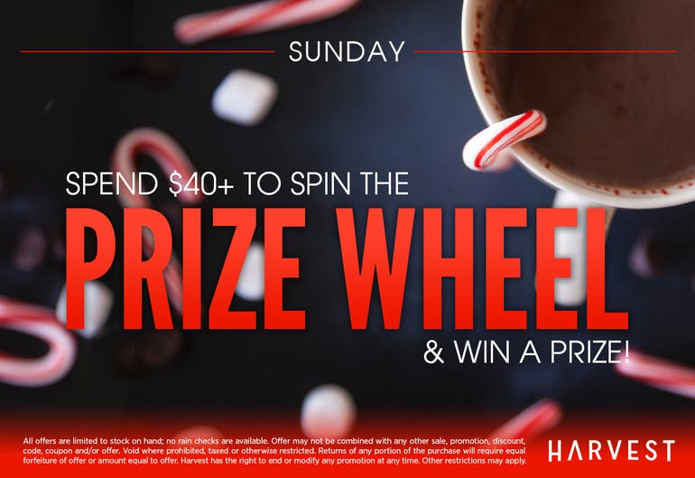 Harvest of Rockville Prize Wheel Sunday!