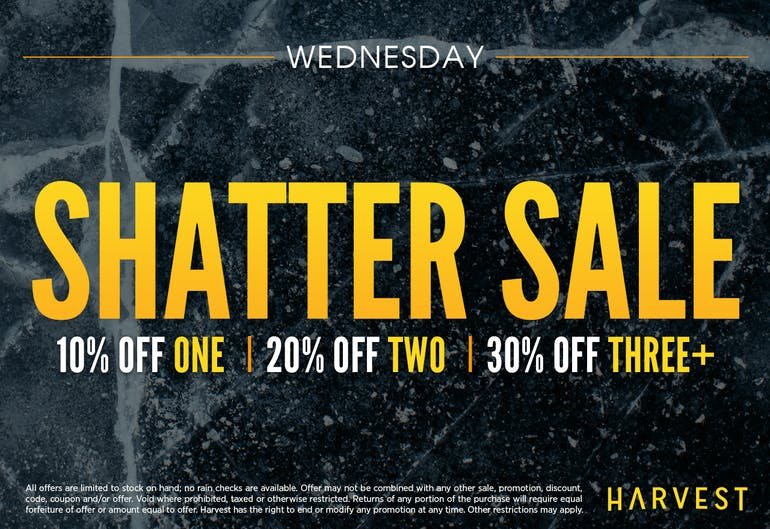 Harvest of Rockville Hump Day Shatter Sale!