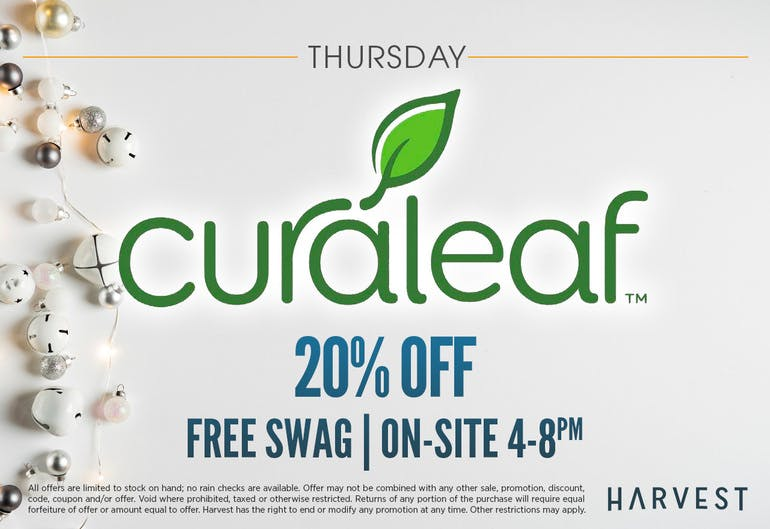 Harvest of Rockville Featured: All Curaleaf 20% Off