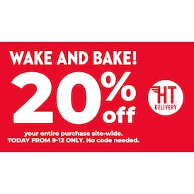 High Times Delivery WAKE & BAKE 9am-12pm GET20% OFF!