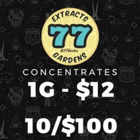 77 EXTRACTS - 1/$12 - 10/$100