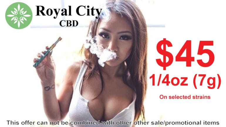 Royal City CBD 1/4oz (7g) SALE - $45 per 1/4oz