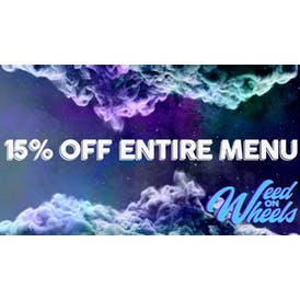 Weed On Wheels 15% OFF THE WHOLE STORE!