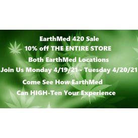 EarthMed - Addison 10% OFF The Entire Store!!