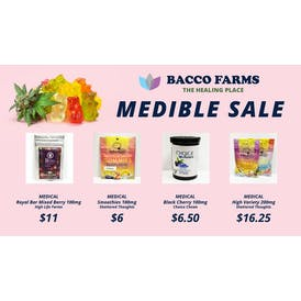 Bacco Farms Provisioning Center Medible Deal 7/31/2021