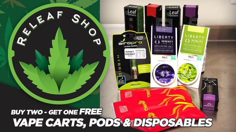 ReLeaf Shop Buy 2 Get 1 FREE VAPES!