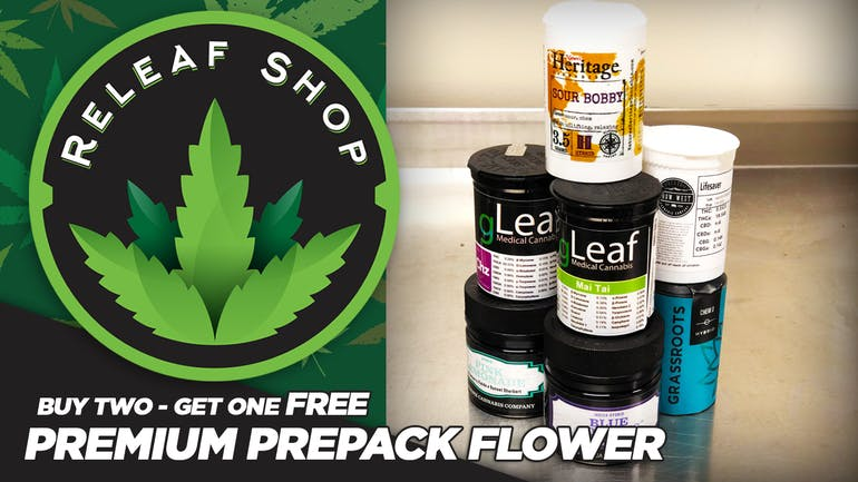 ReLeaf Shop Buy 2 Get 1 FREE Premium Flower!