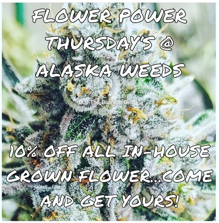 Alaska Weeds Flower Power Thursdays - 10% Off