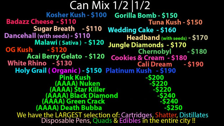 WeedAGram $100-$250 Ounces! While In-Stock