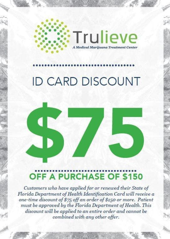 Trulieve - West Palm Beach $75 off order of $150 or more