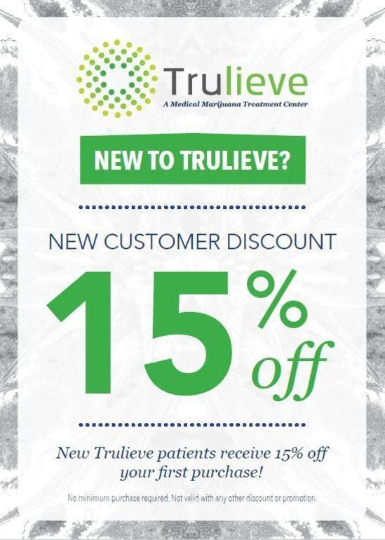 Trulieve - Miami Gardens New Patient - 15% off total