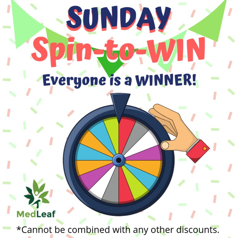 MedLeaf SPIN THE WHEEL SUNDAY