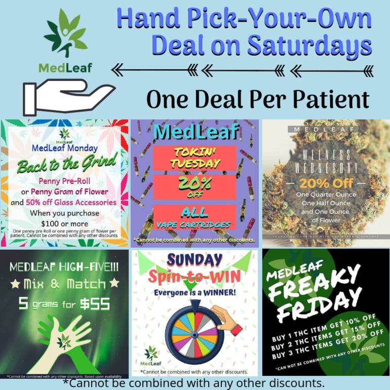 MedLeaf Pick Your Deal Saturday