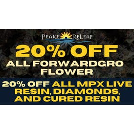 Peake ReLeaf 20% off MPX Diamonds and MORE!