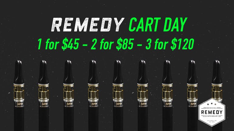 Remedy Columbia MD's BEST Cart Day $45-85-120!