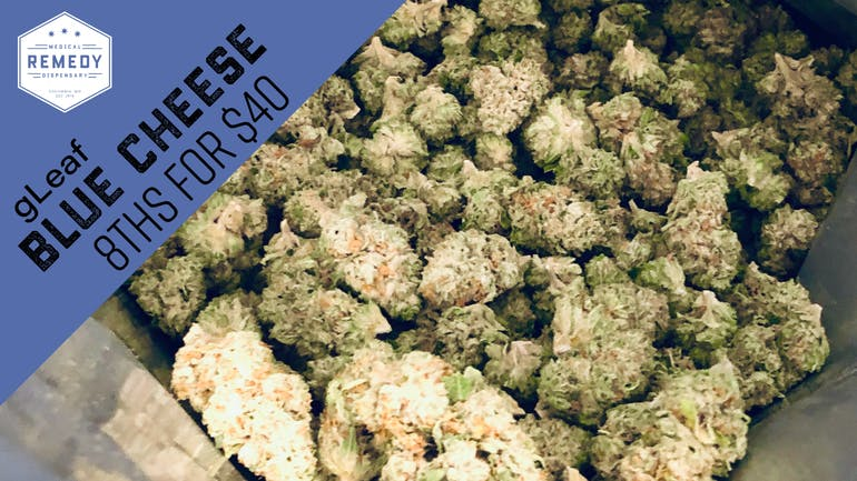 Remedy Columbia Blue Cheese 8ths for $40