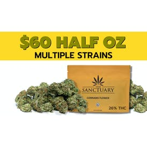 The Sanctuary $60 14 Grams 26% THC