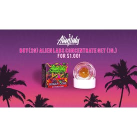 Tropicanna Dispensary and Weed Delivery 1G ALIEN LABS FOR $1.00