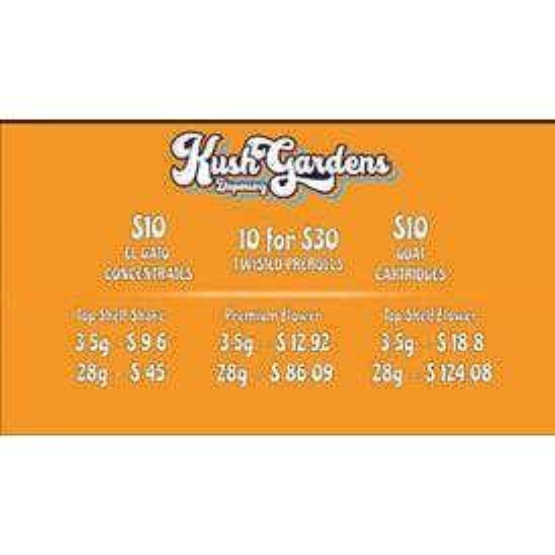 Kush Gardens - El Reno $10 CARTS & DABS. 20% OFF STORE!