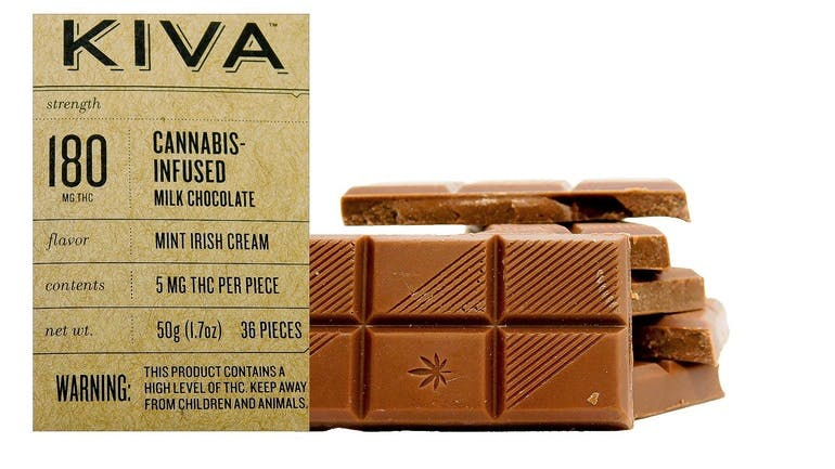 Far West Kiva 180mg Chocolate Bar 2/$35