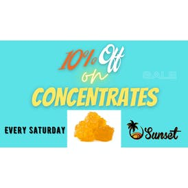 SUNSET HERBAL 10% OFF - Concentrates STOREWIDE