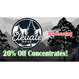 Elevate Maine - Yarmouth Wax Wednesday - 20% Off 1G's