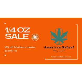 American ReLeaf 10% off Blueberry Cookies 1/4oz