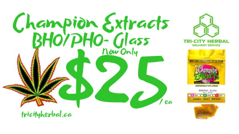 Tri City Herbal Champion Extracts Glass Sale!