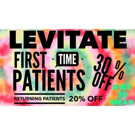 Levitate Cannabis 30% off First Time Patients
