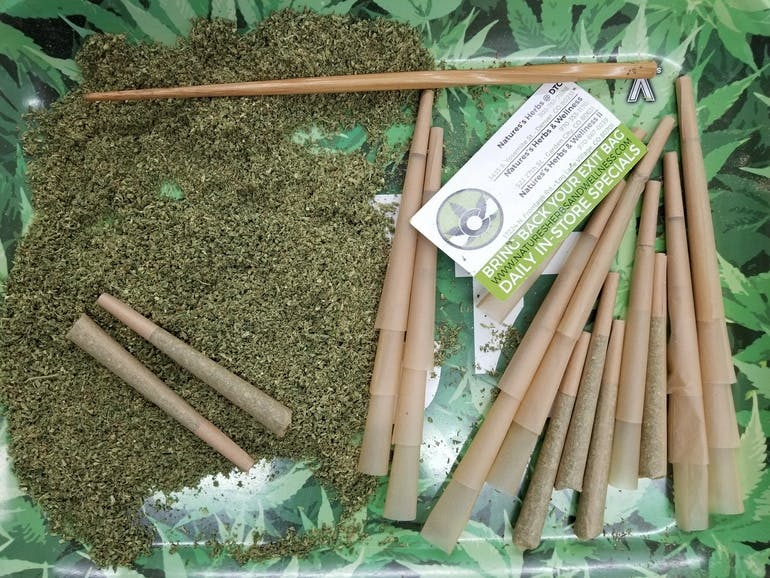 Natures Herbs and Wellness II 2 Pre-Rolled Joints for $10!