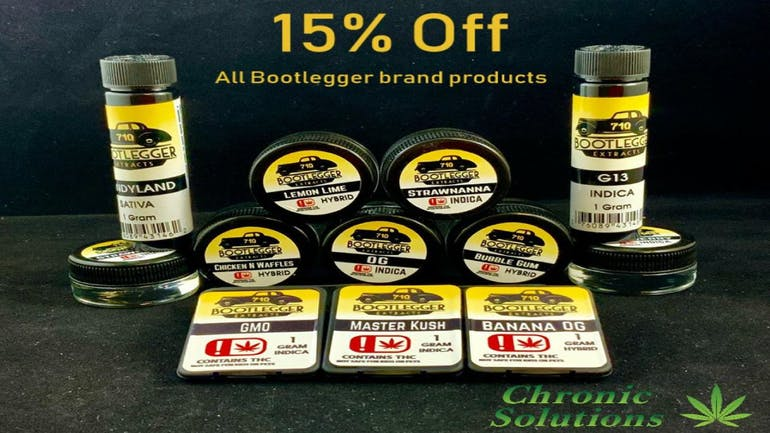 Chronic Solutions 15% Off Bootlegger Products!