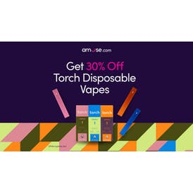 Amuse Cannabis Delivery [Bellflower] 30% Off Torch Disposable Vapes!