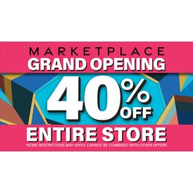 Marketplace GRAND OPENING 40% OFF STORE WIDE