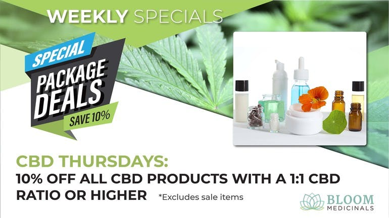 Bloom Medicinals Cannabis Dispensary CBD Thursdays