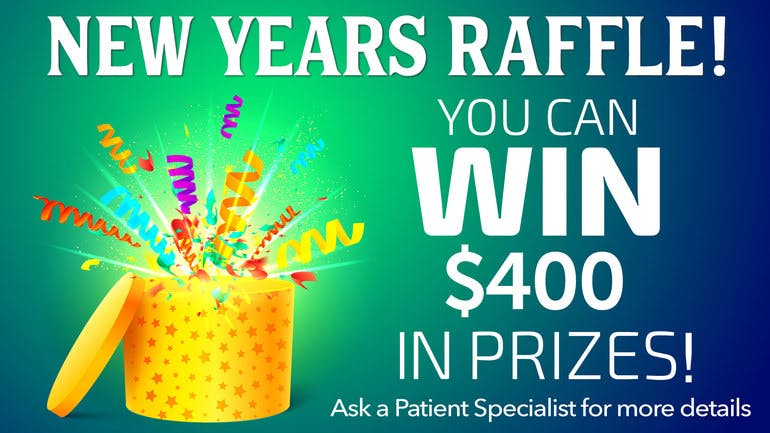 Bloom Medicinals Cannabis Dispensary January New Years Raffle!