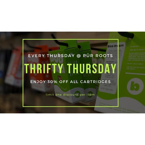 pur roots THURSDAY DEAL- 30% OFF ALL CARTS