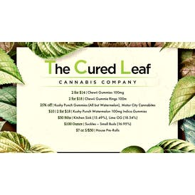 The Cured Leaf 5 for $30 Pre-Rolls + More!
