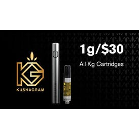 KUSHAGRAM 1g/$30 ALL KUSHAGRAM Cartridges