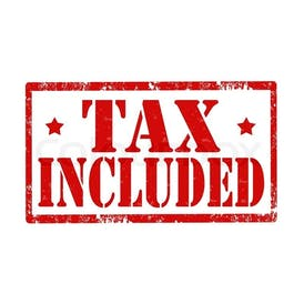 All sales tax included, what you see is what you pay!