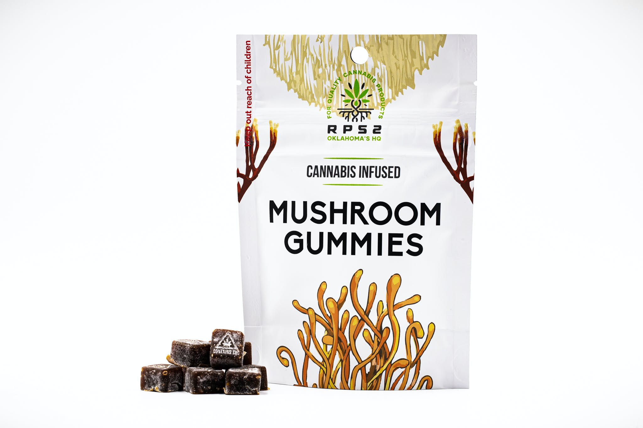 Mushroom Infused Gummies - Uplifting with Lion's Mane and Cordyceps - 25mg THC - 12 Pack - $46 OTD