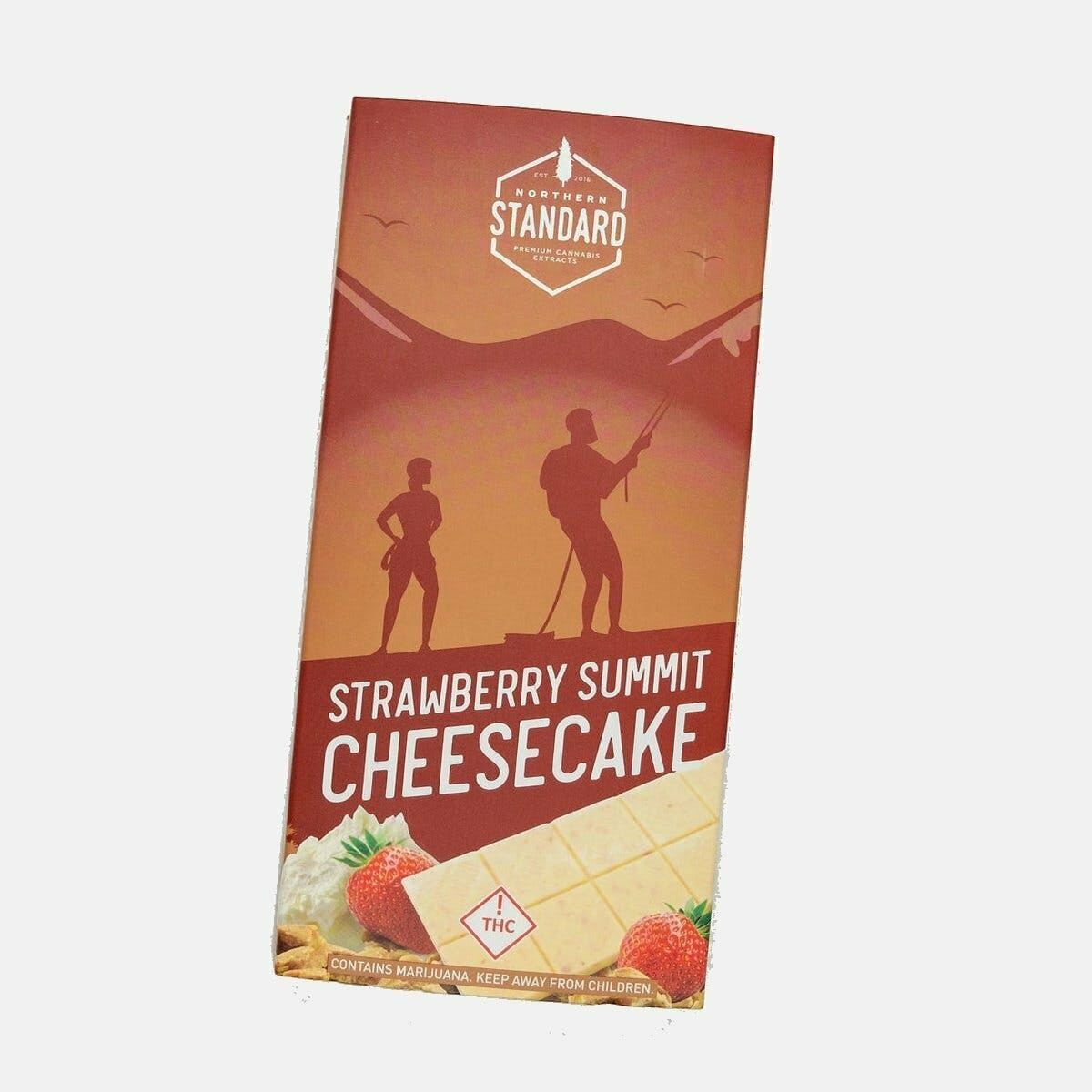 Strawberry Summit Cheesecake Chocolate Bar (1,000mg) by Northern Standard